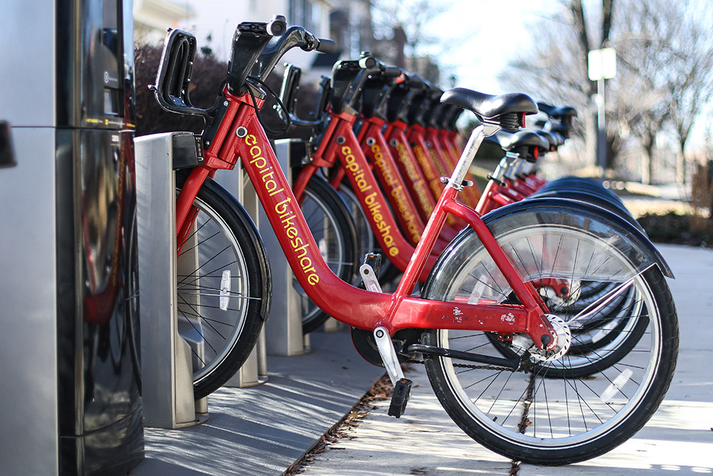 Use Capital Bikeshare to travel throughout Montgomery County and the DC region.