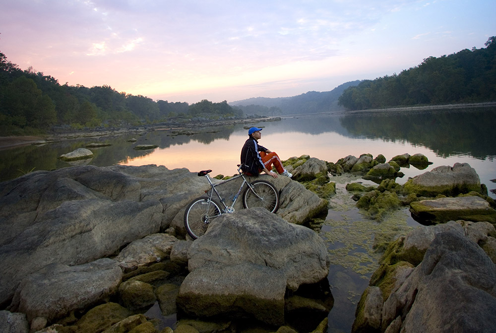 Enjoy scenic views along the many biking trails throughout Montgomery County, MD.