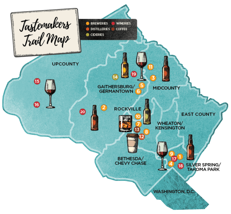 Tastemakers Trail Map