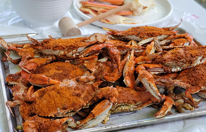 Steamed Crabs from Camerons Seafood in Rockville, MD.
