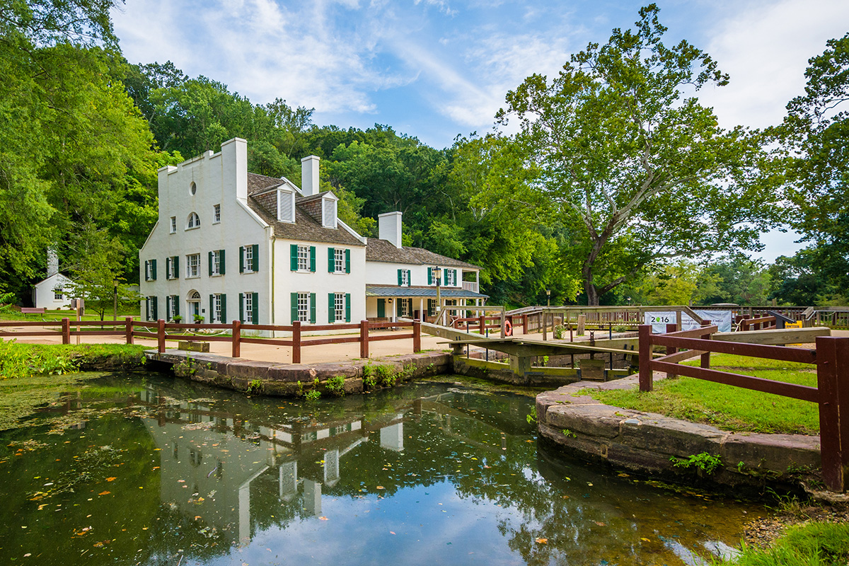 Great Falls Tavern Visitors Center in Potomac, Maryland