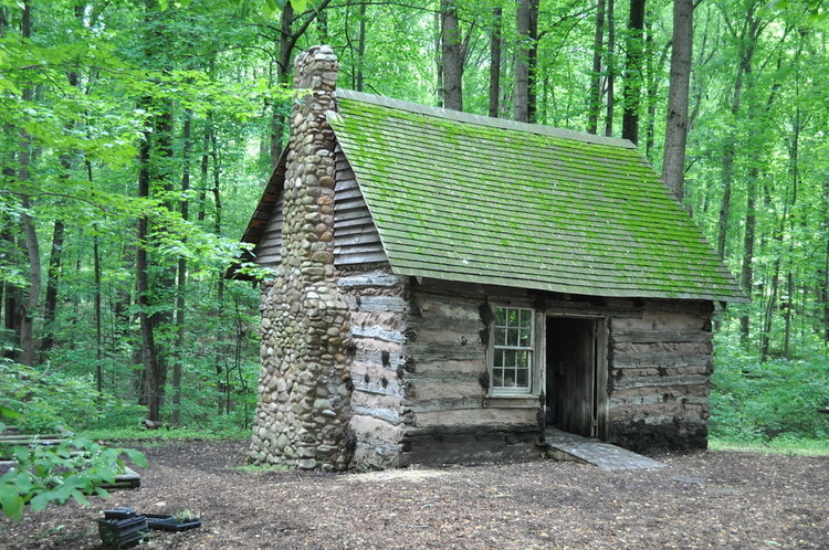 The Thomas Harper Cabin at Brookside Nature Center